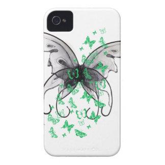 Caisses de mobile de papillon coques iPhone 4 Case-Mate