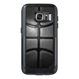 Caisses grises de Samsung de style de basket-ball Coque OtterBox Samsung Galaxy S7