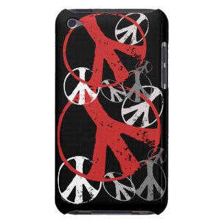Caisses vintages d'iPod de symboles de paix Étuis Barely There iPod