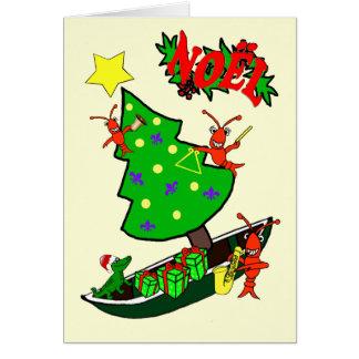 Cajun Panzerkrebs-Weihnachten-Weihnachten Karte