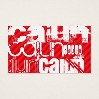 Cajun; Scharlachrot Rot-Streifen- Visitenkarte