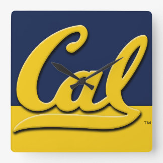 Cal-Logo Quadratische Wanduhr