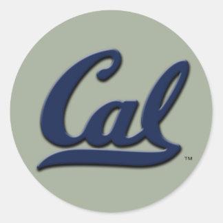 Cal-Logo Runder Aufkleber