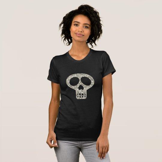 Calavera Glitter-Schädel T-Shirt