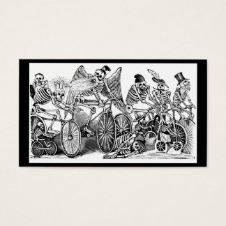 Calavera Radfahrer circa spätem 1800's Mexiko Visitenkarte