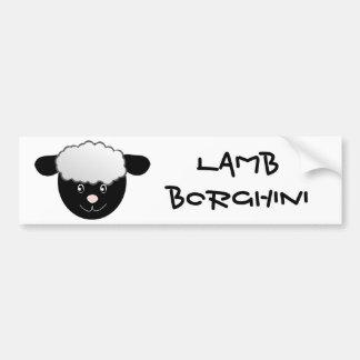 Calembour drôle de moutons de Borghini d'agneau Autocollant De Voiture