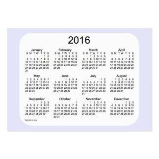 Calendrier 2016 de lavande par le carte de visite