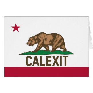 CALEXIT Kalifornien Bärn-Flagge Karte