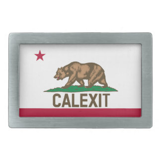 CALEXIT Kalifornien Bärn-Flagge Rechteckige Gürtelschnalle