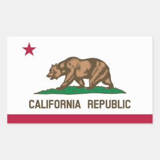 California* Flaggen-Aufkleber Rechteckiger Aufkleber