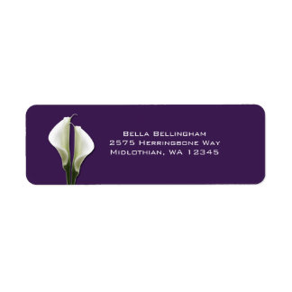 Calla-Lilien-Adressen-Etiketten