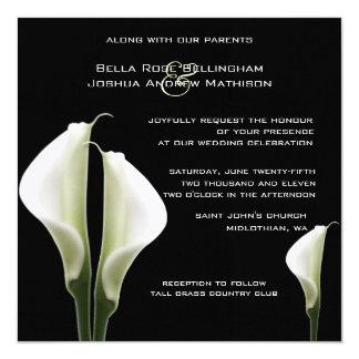 Calla-Lilien, die Einladung Wedding sind Karte