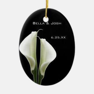 Calla-Lilien-Hochzeits-Verzierung Keramik Ornament