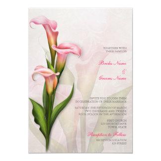 Calla-Lilien-Rosa-Hochzeits-Einladung Karte