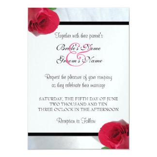 Calla-Lilien-/Rosen-Hochzeits-Einladung 12,7 X 17,8 Cm Einladungskarte