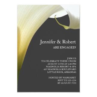 Calla-Lilien-Verlobungs-Einladung Karte