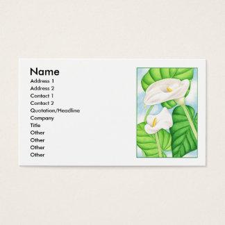 Calla-Lilien Visitenkarte