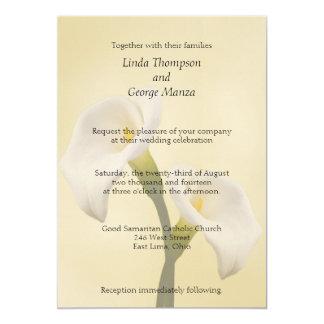 Calla Lilly auf Goldhochzeits-Einladung Karte