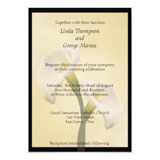 Calla Lilly gerahmte Hochzeits-Einladung Karte