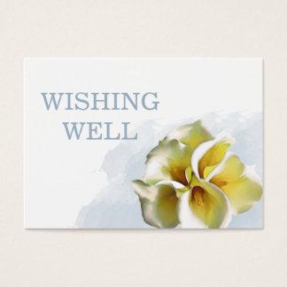 Callalilien-Blumenhochzeit, die gut wünscht Visitenkarte