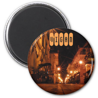 Calle Crisologo in Vigan Runder Magnet 5,7 Cm