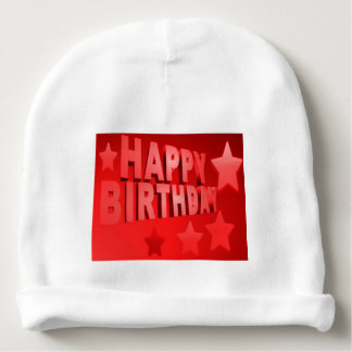calotte de coton de bébé de joyeux anniversaire bonnet pour bébé