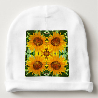 Calotte de tournesol de coton de bébé bonnet pour bébé