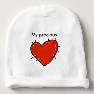 Calotte rouge précieuse de coton de bébé de coeur bonnet pour bébé