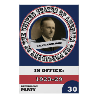 Calvin Coolidgepräsidentengeschichte Retro Poster