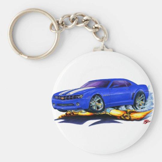 Camaro Blau-Weißes Auto 2010 Standard Runder Schlüsselanhänger