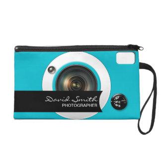 Camera modern Business card Wristlet