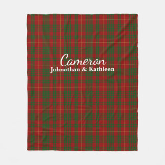 Cameron-Clantartan-karierte Fleece-Decke Fleecedecke