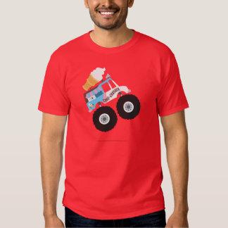 Camion de monstre de crème glacée tshirts