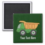 Camion vert personnalisable magnets pour réfrigérateur