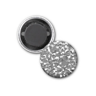 Camo gris et blanc magnet carré 2,50 cm