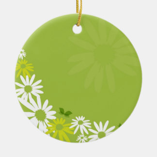 Camomile Flowers Keramik Ornament