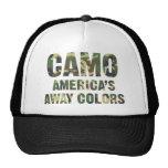 Camouflage-Amerikas weg Farbfernlastfahrer-Hut Trucker Mütze