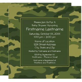 Camouflage-Baby-Dusche oder Party Quadratische 13,3 Cm Einladungskarte