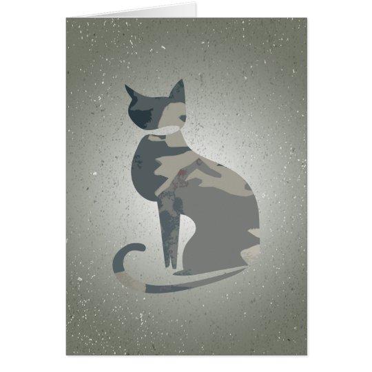 Camouflage-Katzen-faltende Karte 4