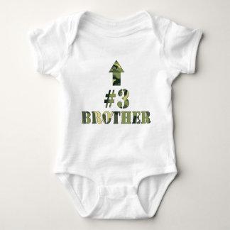 Camouflage-KLEINER Bruder Bruder Shirt/#3/an Baby Strampler