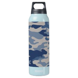 Camouflage-Marine-Blues-Freiheit Bottleworks Isolierte Flasche