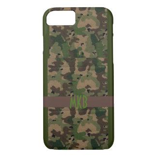 Camouflage mit Monogramm iPhone 8/7 Hülle