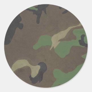 Camouflage Runder Aufkleber