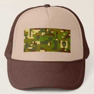 Camouflage-Schädel - Grün u. Brown Truckerkappe