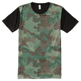 Camouflage T-Shirt Mit Komplett Bedruckbarer Vorderseite