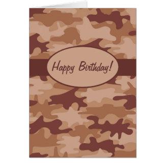 Camouflage-Tarnungs-alles- Gute zum Karte