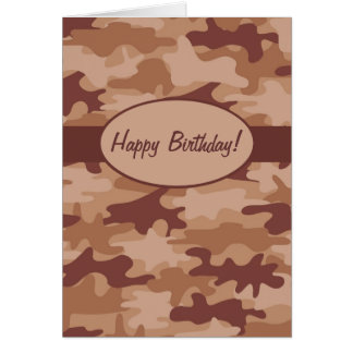 Camouflage-Tarnungs-alles- Gute zum Mitteilungskarte