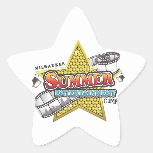 Camp de divertissement d'été autocollants