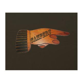 Camper-hölzerne Finger-Punkte Holzwanddeko