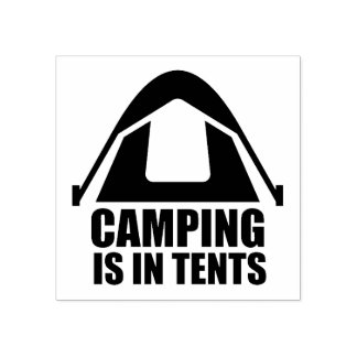 Camping ist in den Zelten Gummistempel